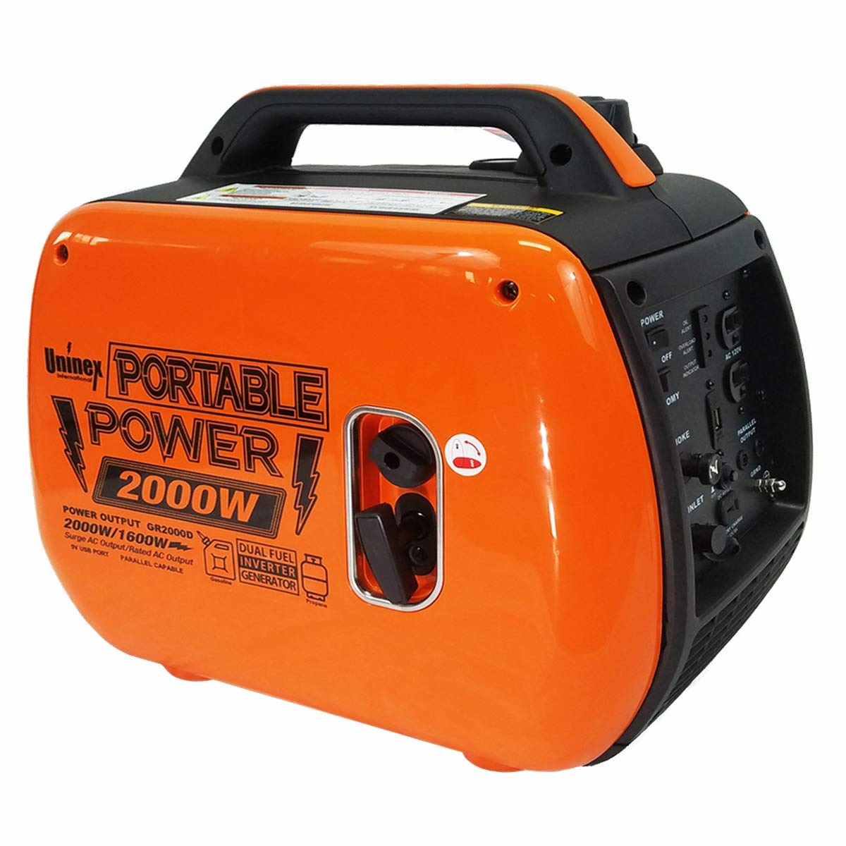Compact Dual Fuel Portable Inverter Generator 2kW EPA CARB Compliant