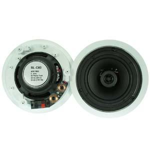 """6 1 2"""" 2 Way Ceiling Speaker BLC60 Pair 2pc Bestlink Netware"""