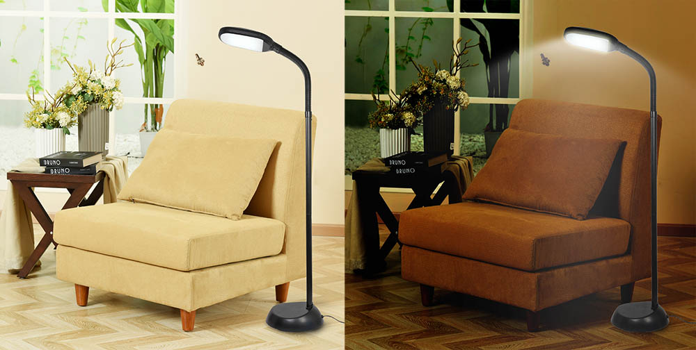 Led Flexible Gooseneck Floor Lamp 110v 60hz Led 14w 6000k