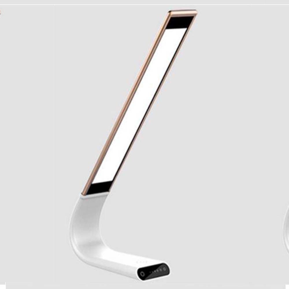 Adjustable Cordless Desk Lamp Rechargeable Reading LED Light Eye Protection Rose-Gold