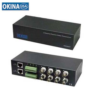 8-Ch Video Balun Okina UTP-VTB800TRJ