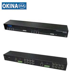 8Ch Active Video Balun 1U Rackmount Okina VBAU800R-1U