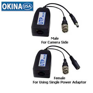 Passive Video/Power Lead Balun Okina AAS-VHP-110RJK