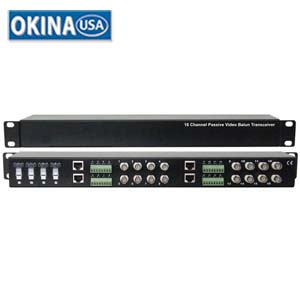 16-Channel Passive Video Balun  Okina VBU1600T-1U