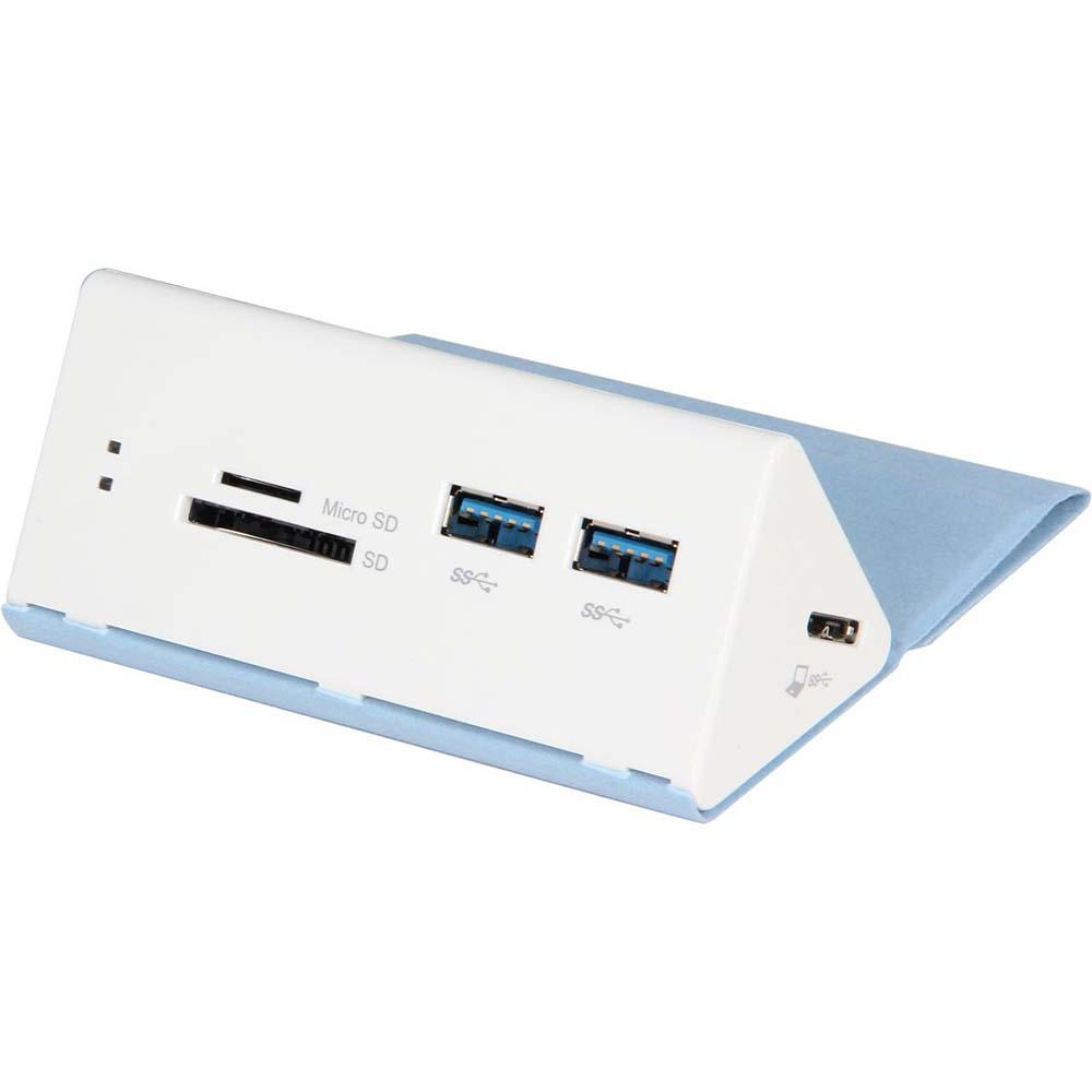 USB3.0 2 Port Hub + Card Reader with Power Supply